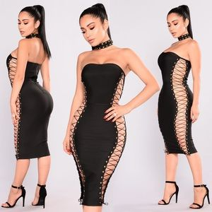 Sexy Stacey Lace Up Dress